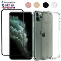 iPhone 11 Pro Max/ XS /8 Full Body Protect Curved Tempered Glass Screen TPU Case
