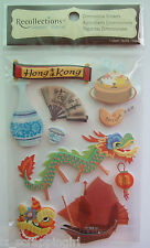~HONG KONG~ Recollections Dimensional Stickers; Vacation, Asia Travel, Dragon