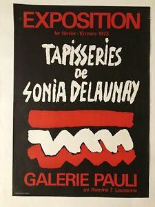 Tapisseries Sonia Delaunay 1973 Affiche Originale
