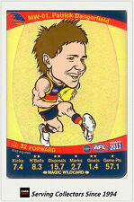 2011 AFL Teamcoach Cards Magic Wild Card MW1 Patrick Dangerfield (Adelaide)