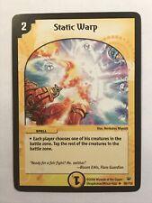 Static Warp Duel Masters DM10 Uncommon card TCG CCG