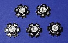 5 X 5W 390nm UV POWER  LED on HEATSINK Kühlkörper Geldschein Money Schwarzlicht