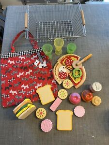 Metal Shopping Basket Hape Play Food, Ikea Cups, Pizza, Bag, Biscuits