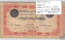 BANQUE DE LA GUADELOUPE 25 FRANCS ND (1934) ALPHABET H.38 RARE !!!!