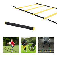 Agility Speed Training Ladder 8 Rung Footwork Fitness Football Workout Exercise@