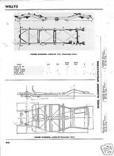 1946 47 48 49 50 51 52 53 54 55 Willys NOS Frame Specs