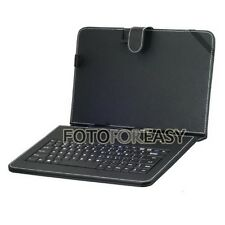 "Leather Cover Case USB 2.0 Keyboard for 9"" Tablet iPad MID PC PDA Android Black"