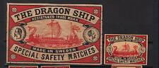 Ancienne   étiquette      allumettes Suède  AZ781 Drakar  Bateau 1