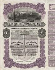 BRAZIL RAILWAY COMPANY BOND stock certificate 1911
