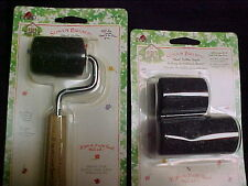 Susan Branch Plaid Stencil Paint Roller 2 Size Rollers 3 Rollers Total 1 Handle