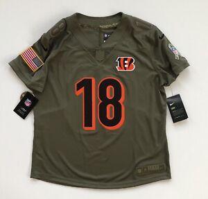Women's Medium AJ Green Cincinnati Bengals Salute To Service Nike Camo Jersey