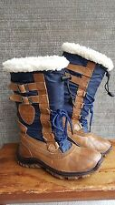 Pre-Owned Women's PAJAR ADRIANA Winter Boot, Sz 6 MED Brown & Navy, Retail $220