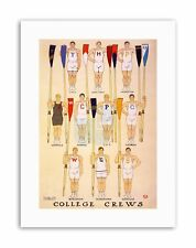 ROWING COLLEGE CREW AMERICAN UNIVERSITY USA NEW Poster Picture Painting Drawing
