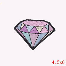 Embroidery Diamond Crystal Sew Iron On Patch Badge Fabric Applique DIY Bag Cloth