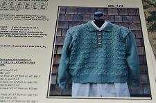"Mari  Classic Style Knitting Pattern 123 Garter Placket Pullover 36-46"""