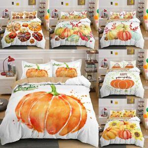 Halloween Theme Bedding Set Comforter Cover Pumpkin Duvet Bedspread Pillow Cases