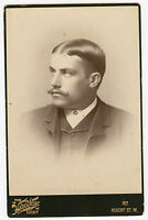 Cabinet Photo - Close Up - Nice Looking Young Man W/Moustache - Foreign