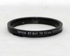 Tiffen 57 Bay to 52mm Step Down Adapter ring Step Up Metal Digital Film