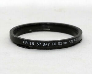 Tiffen 57 Bay to 52mm Step Down Adapter ring Step Up Metal Digital Film
