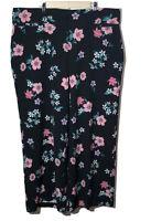 Lane Bryant Womens The Allie Pant Black Floral Wide Leg Stretch Plus Size 22
