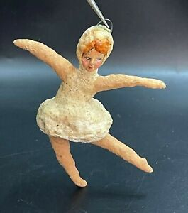 USSR Christmas tree toy Ornament  Vintage decoration Cotton ballerina 5
