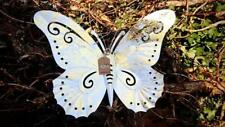 Metal Butterfly Wall Art, white / gold leaf finish wall hanging, wall decoration
