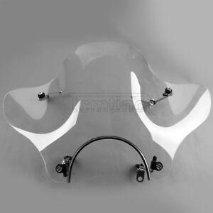 """7/8"""" Windscreen Windshield For Yamaha VStar 950 1100 Custom Virago 250cc Cruiser"""