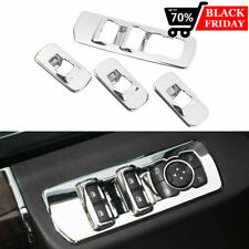 For 2015-2018 Ford F150 Accessories Window lift switch panel Chrome Cover trims
