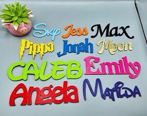 Kids wooden letters, Personalised Disney names, wall art, children' door plaques