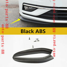2x Black ABS Front Bumper Lip Spoiler Cover trim Fit For VW Golf MK7.5 2018 2019