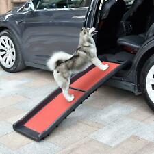 "62"" 40"" Folding Pet Dog Ramp Ladder Truck Suv Van Car Portable Stair Step Truck"