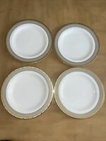 "Mikasa Fine China CAMBRIDGE Pattern Y0501 Set of 4 Dinner Plates 10 5/8"" EUC"