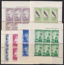 New Zealand 1958-1963 VF LH Collection of 6 Health Souvenir Sheets SCV $52.00