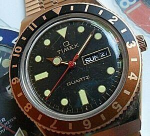 Attractive Retro Men's Timex Reissue Diver's Quartz Watch TW2U61500 Gold Tone
