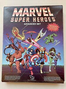 Marvel Super Heroes Advanced Set TSR COMPLETE Components UNCUT Original Receipt