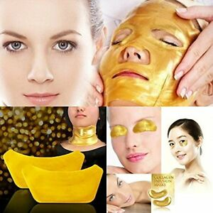 Collagen Masks Crystal Gold Eye Anti Ageing Wrinkle FACE, NECK, LIPS or EYES