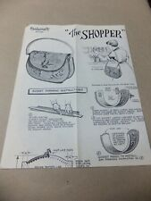 Vintage Leathercraft The Shopper Purse Pattern and Instructions.