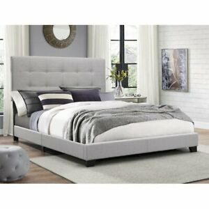Crown Mark Florence Gray Panel Bed