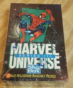 NEW 1992 Marvel Universe Series III 3 Trading Cards by Skybox factory sealed