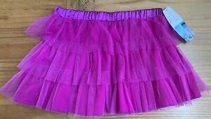 Freestyle by DANSKIN Girl's Size 10/12 Magenta Layered Ballet Skirt NWT