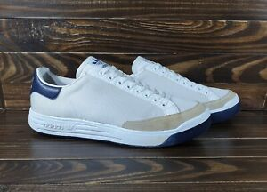 Vintage Adidas Rod Laver White Navy Men's Trainers Sneakers Tennis Sport