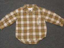 The Children's Place Boys Button-Up Baby 12m Green and Yellow 50% Off NWT New