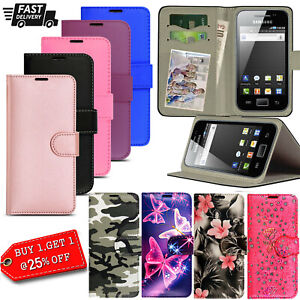 Case for Samsung Galaxy Ace S5830 Magnetic Leather Wallet Stand Cover GT-S5830i