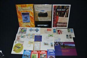 New Zealand small range of packs , booklets etc. + few f/d/c's .
