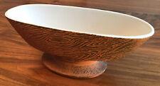 Vintage McCoy Planter Oblong Pedestal Bowl Orange