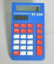 Texas Instruments Ti-108 Blue Basic School Calculator with Cover
