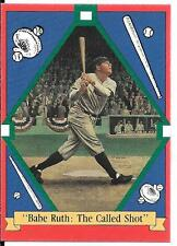 "BABE RUTH: ""THE CALLED SHOT"" 1992 CARD ADVERTISING PLATE SERIES"