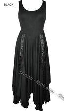 Dark Star Jordash Black Corset Lace-Up Back Full Circular Dress.size M Fit 8-12