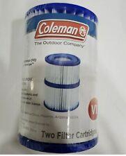 Coleman SaluSpa Swimming Pool Filter Pump Type VI Replacement Cartridge (2 Pack)