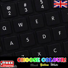 English UK Replacement Non-Transparent Keyboard Stickers for Laptop PC 4 Colours